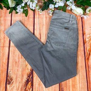 WHBM Skinny Leg Grey Ombre Denim Pants JE09CH4